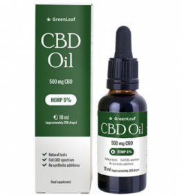 CBD OIL GREENLEAF Oil KONOPNY 5% 10 ml